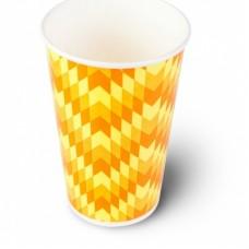 Стакан бумажный для холодных напитков Зиг-Заг 400мл