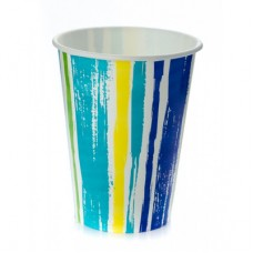 Стакан бумажный для холодных напитков Полоски 300мл