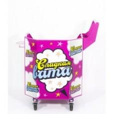 Тележка для аппарата сахарной ваты, восьмигранная, низкая, маленькие колёса