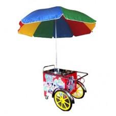 Аппарат сахарной ваты ENIGMA 3кг/ч, алюм.ловитель, ТЭН, тележка, зонт