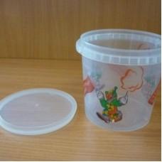 Пластиковый стакан с крышкой (1 л)
