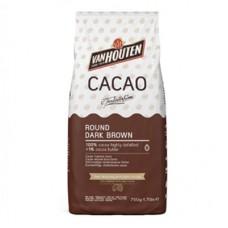 Какао – порошок «ROUND DARK BROWN» обезжиренный менее 1% жирность /VanHouten